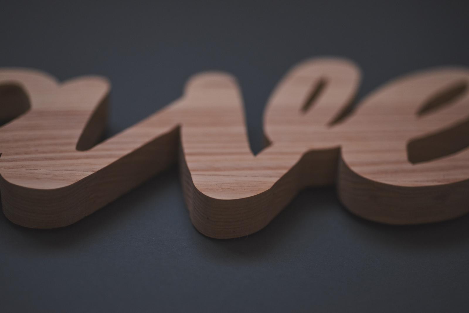 Handmade Wood Typography | epspictures